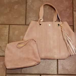 Steve Madden tote with small bag insert.
